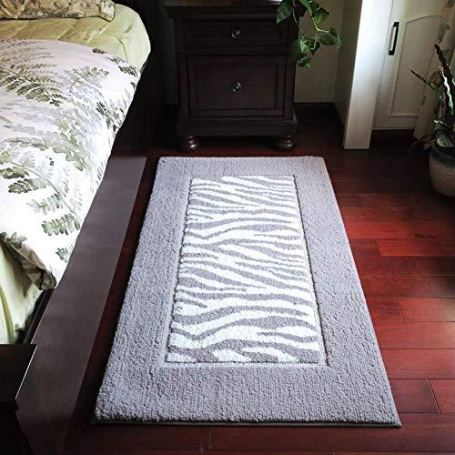 Cxmm Amerikanischer Heller Luxusschlafzimmer-Nachttisch, graue einfache geometrische Moderne Bodenmatten-Badezimmer-weiche saugfähige Auflage