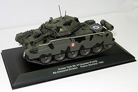 Crusader III Mk Vi Maßstab 1:43 Fertigmodell aus Metall in Displayvitrine