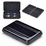 flycoo Schutzhüllen für Speicherkarten Schutz stoßfest staubdicht wasserdicht antimagnetisch Box für 8SD Karten 8TF/Micro SD Karten schwarz schwarz