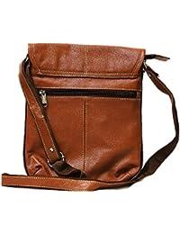 Virtual Mart Women Leather Sling Bag Brown