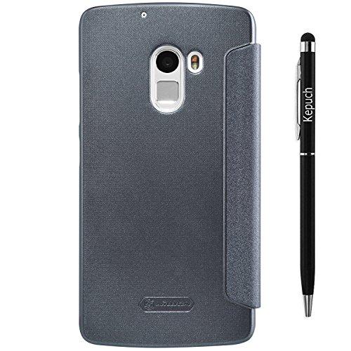Kepuch Smart PU Leder hülle hüllen Tasche case Cover für Lenovo Vibe X3 Lite K4 Note - Schwarz