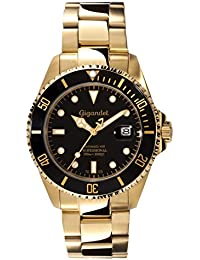 Gigandet Sea Ground Automatic Men's Analogue Diver Watch Black Gold G2-004