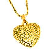 Surat Diamond Small Heart Shaped Gold Pl...