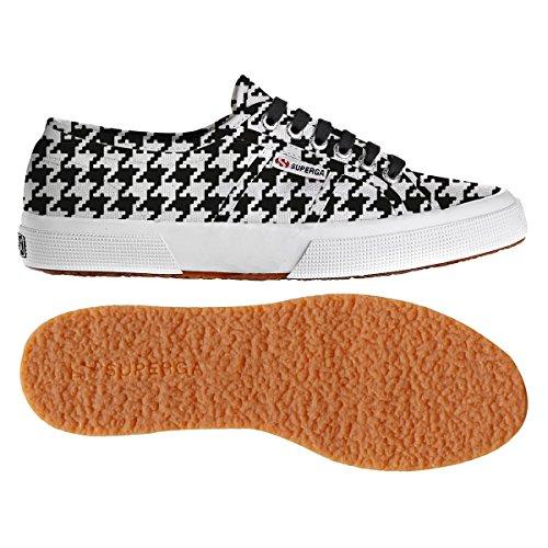 Superga - 2750 Fantasy Cotu, Sneaker Donna PIEDDEPOULEBLACK-WHT