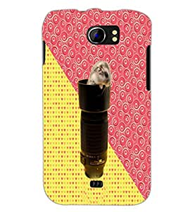 PrintDhaba Trapped Mouse D-3429 Back Case Cover for MICROMAX A110 CANVAS 2 (Multi-Coloured)