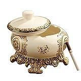 Art Cendrier avec couvercle décoratif de table Cendrier élégant en frêne support...