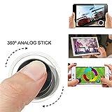Mini Joysticks Manette Mobil Phone Game Contrôleur de Jeu Portable à Ecran Tactile pour Tous Les Smartphones (Deux paquets)