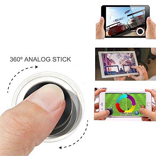 Handy Spiel Fling Game Controller Joystick Rocker Touch Bildschirm Joypad für iPad iPhone Android von love77 (2 Stück)