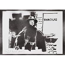 V De Vendetta Hecho A Mano - Handmade Street Art Poster