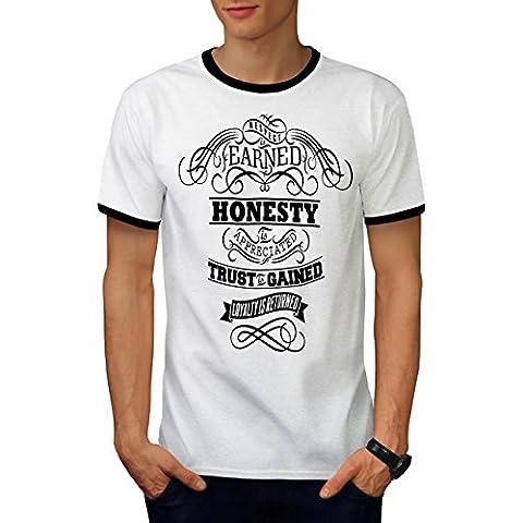 Honnête Confiance Fidèle Slogan Confiance La vie Men S T-shirt à sonnerie | Wellcoda