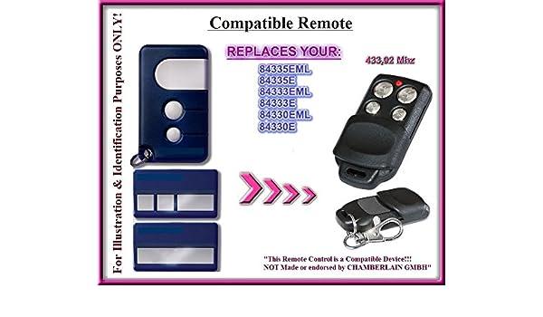 8747E Compatible Remote control 433.92 MHz. Chamberlain 84330E 84335E 84333E