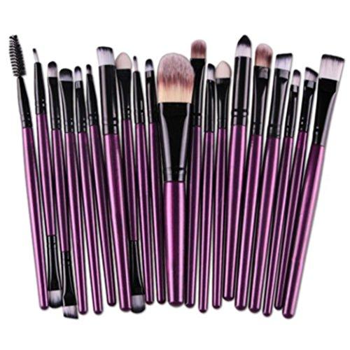 AMUSTER 20 pcs Make-Up Pinsel Set werkzeuge Make-up Kulturbeutel Wolle Make-Up Pinsel Set Powder...