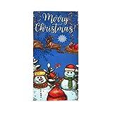 Sinestour Asciugamani Natalizi con Pupazzo di Neve e Babbo Natale Che volano per Il Bagno, Panni Decorativi per la Pulizia della Cucina, Strofinacci con Anello per appenderli.