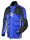 Stilvolle blau Motorradjacke textilien Motorrad Jacke Cordura Motorcycle Jacket, L, Blau
