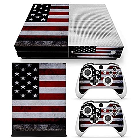 Morbuy Xbox One S Skin Console Vinyle Autocollant Decal Sticker and 2 Manette Skins (Flags USA)