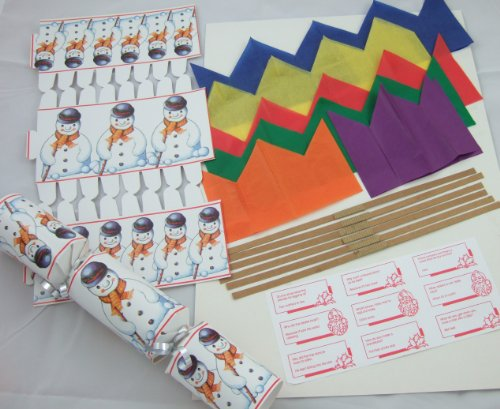 6 Luxury 12  Snowman Make Your Own Christmas Crackers