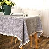 XJ&DD Solide Tischdecke,Anti-Rutsch Baumwolle Rechteckige Tischdecke,Für Wohnzimmer Coffee Table Esstisch Rechteckige Tischdecke-C 90x140cm(35x55inch)