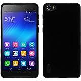 PhoneNatic Case für Huawei Honor 6 Hülle Silikon schwarz Candy Cover Honor 6 Tasche + 2 Schutzfolien