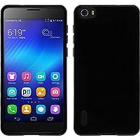 PhoneNatic Case für Huawei Honor 6 Hülle Silikon schwarz Candy + 2 Schutzfolien
