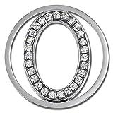 Amello Edelstahl Coin Oval Silber Zirkonia Schmucksteine weiß Stahlschmuck für Damen ESC535JW