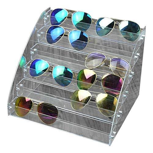 Fdit Acryl Sonnenbrille Organizer Multilayer Vitrine Tabletop Brillen Aufbewahrungsbox Durable Brillen Aufbewahrungsbox(#2)