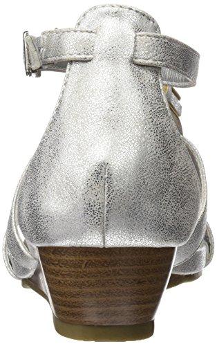 XTI Damen 030657 Sandalen Silber