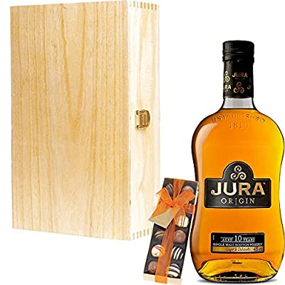 The Isle Of Jura 10 Year Old Origin Single Malt Scotch Whisky 35cl Half Bottle Corporate Gift Set With Handcrafted Gifts2Drink Tag