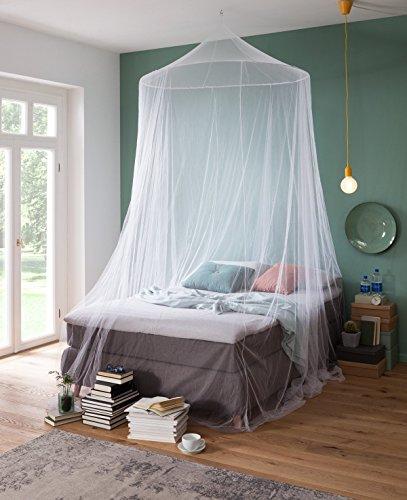 RSP® Moskitonetz HOME für Doppelbetten mit extra großem Spannring für Zuhause -