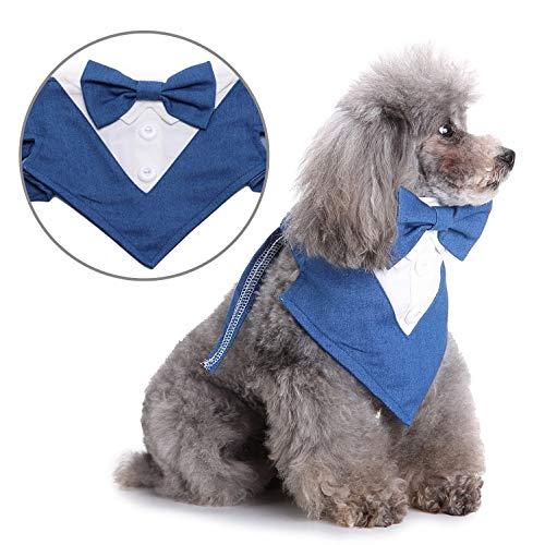 SELMAI Kopftücher für Kleine Hunde Haustier Halstuch Dreieck Lätzchen Hals Schals für Süße Katzen Klassische Halsbänder Krawatte Knoten Hündchen Geburtstagsfeier Geschenk Hochzeit Taschentücher L -