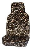 Smart fortwo (2007–13) lujo piel sintética de leopardo asiento de coche cubre–Frontal par