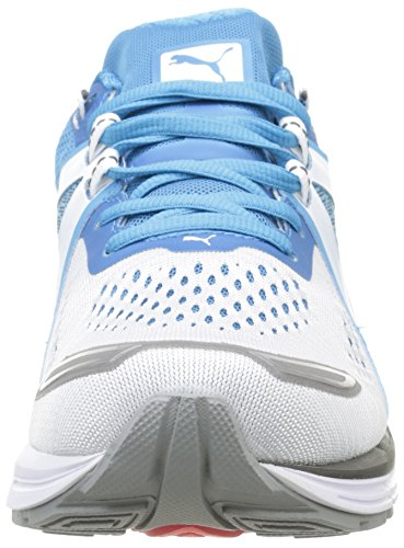 Puma Speed 600 Ignite, Running Mixte Adulte Blanc (White/Atomic Blue/Aged Silver)