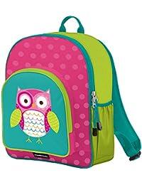 "Crocodile Creek Girls Eco Owl School Backpack, Teal, 14"""