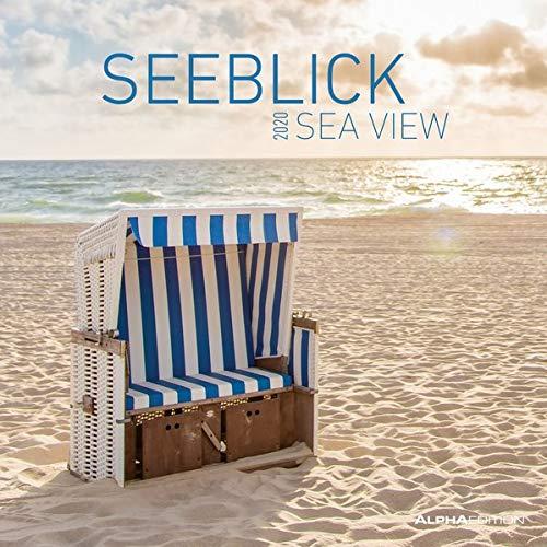 Seeblick 2020 - Sea View - Broschürenkalender (30 x 60 geöffnet) - Strand und Meer - Wandkalender - Landschaftskalender - Wandplaner - Küste