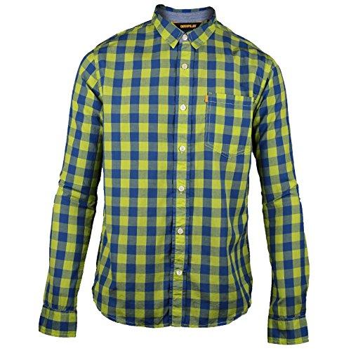 CAT Lifestyle C2611090 Elevate - Camicia a Scacchi Manica Lunga - Uomo Verde