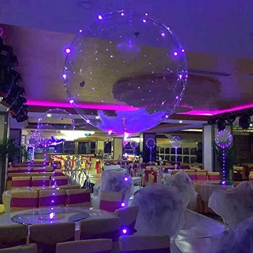 Dekoration-Ballone, Helle Geburtstagsfeier-glühende Transparente Latexballone Mit Batterie-Stab Und LED-Licht-Streifen Für Hochzeitsfest-Geburtstags-Dekoration
