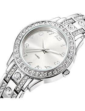 NUOVO Damen-Armbanduhr Mit Diamant Silber Vergoldet Armband