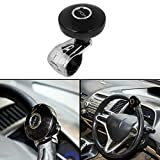 #2: Autofy Universal Car Steering Wheel Rotator/Streering Holder/Silicone Power Handle for All Cars (Black and Silver)