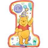 Winnie The Pooh Number One Foil Balloon (Uninflated) [Toy]