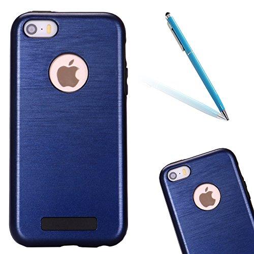 """iPhone 5s Hülle, [Neo Hybrid] CLTPY iPhone SE Dual Layer Tasche Schwarz Weichsilikon Inner Etui & Hartplastik Rückdeckel, Ultra Protektiv Militärischer Armor Schale Fall für 4.0"""" Apple iPhone 5/5s/SE  Dunkelblau A"""