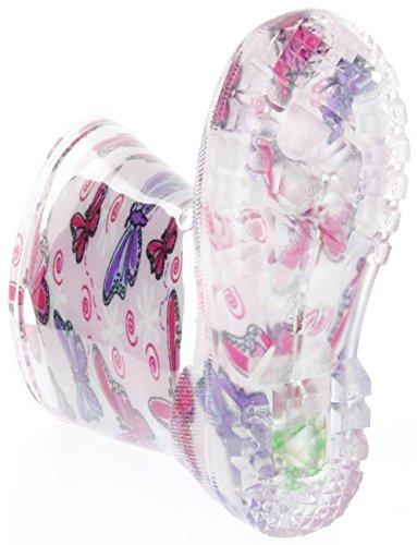 Conway Gummistiefel pink Regenstiefel Kinderschuhe Lichtfunktion Schmetterling Pink