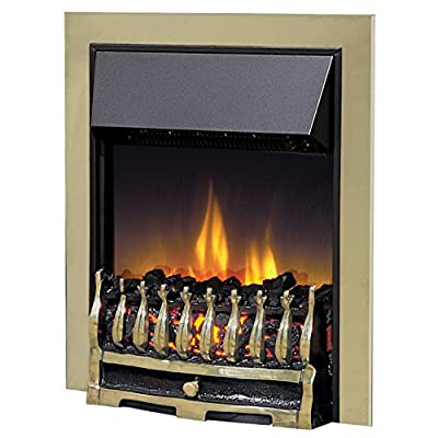 Dimplex 035806 WYN20AB Wynford Electric Inset Fire with Optiflame Effect, 2 kW, 230 W, Antique Brass
