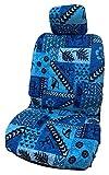 Made in Hawaii, Hawaiianische Original Tapa Design in Blau Separate Kopfstütze Auto Sitzbezüge von Winnie Fashion