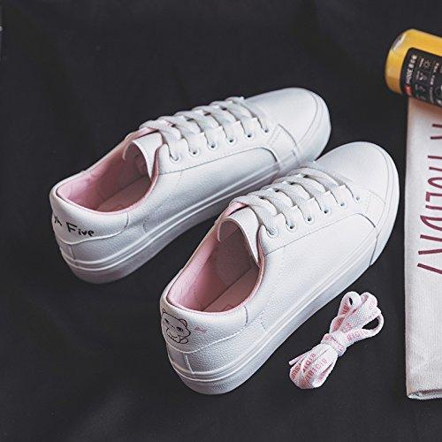 Wuyulunbi@ Scarpe bianche, molla scarpe scarpe scarpe Rosa