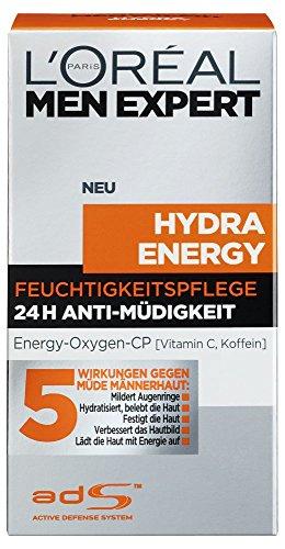 L\'Oreal Men Expert Hydra Energy Feuchtigkeitspflege, 24H Anti-Müdigkeit, 50 ml