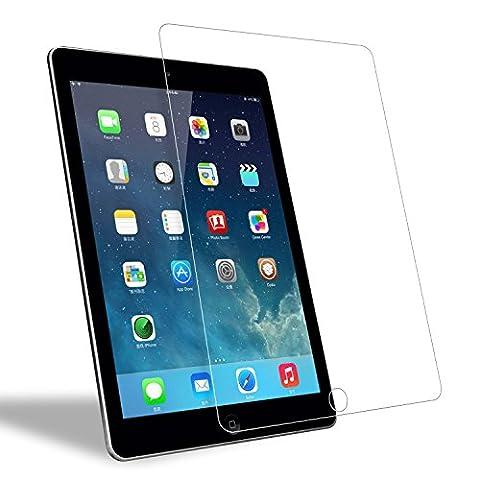 iPad Air 1/ 2 Panzerglas Schutzfolie, WEOFUN Ultra-klar iPad Air 2 Displayschutzfolie, Panzerfolie für iPad Air 1/ 2, iPad Pro 9.7 Panzerglas Folie [0.33mm, Anti-Kratzen, Anti Fingerprint, 9H