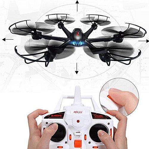 Yacool ® MJX X600 2.4G 4 canales RC Quadcopter Drone Hexacopter 6 ejes Gyro UAV 3d rollo de retorno automático sin cabeza modo Uno Volver Helicóptero Key(sin cámara) -negro