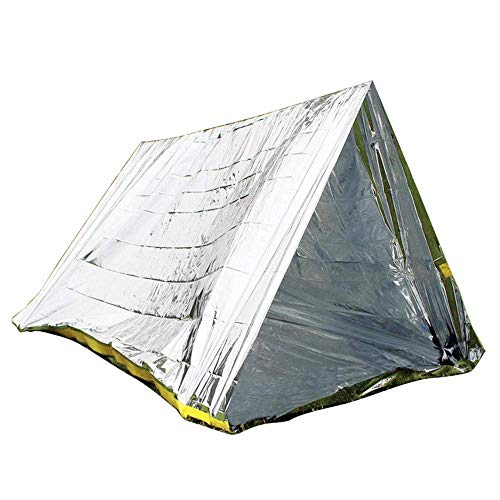 BJYG Outdoor-Doppelzelt/einfaches Zelt/PET-Erste-Hilfe-Isolierung Katastrophenhilfe tragbares Zelt/warme Rettungsdecke