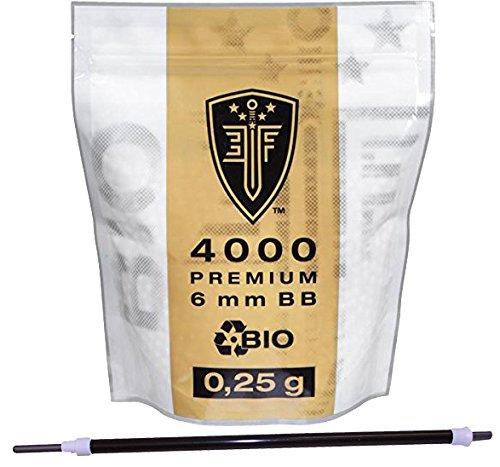 SET: Elite Force Bio BB`s 0,25 g - 4000 Stück - weiß + G8DS® Speedloader Colt Bb
