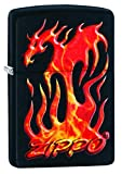 Best BIC Lighter Fluids - Zippo Unisex's Flaming Dragon Design Windproof Lighter, Black Review