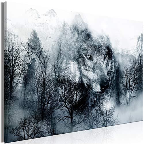Murando Cuadro Lienzo Lobo 120x80 cm - 1 Parte Impresión